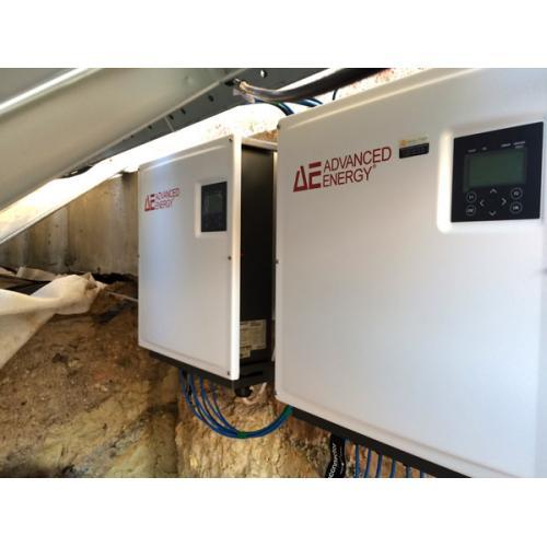 Сетевая солнечная электростанции мощностью 30 кВт с. Лесники
