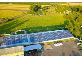 Промислова мережева сонячна електростанція потужністю 120 кВт, м. Лубни