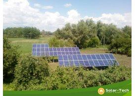 Сетевая солнечная электростанция мощностью 15 кВт на инверторе SolarEdge, Мена (лето 2019)