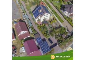 Мережева сонячна електростанція потужністю 30 кВт м. Київ, осінь 2019