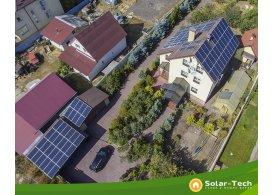 Сетевая солнечная электростанция мощностью 30 кВт, Киев, (осень 2019)