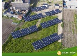 Сетевая солнечная электростанция мощностью 30 кВт, Радивилов (весна 2019).