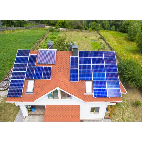 """Сетевая солнечная электростанция 6 кВт под """"зелёный"""" тариф + гелиосистема для ГВС"""