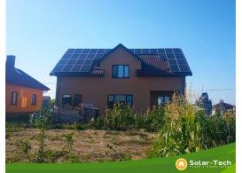 Сетевая солнечная электростанция мощностью 10 кВт тариф г. Ровно (лето 2019)