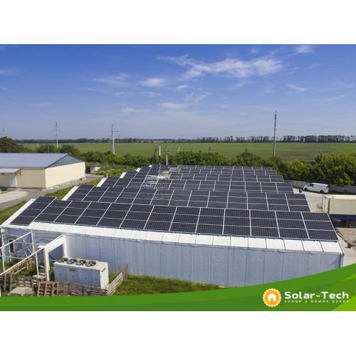 Мережева сонячна електростанція потужністю 81 кВт під власне споживання