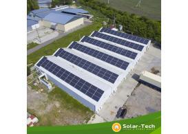 Сетевая СЭС под собственное потребление мощностью 81 кВт, Хмельницкая обл. (лето 2019)