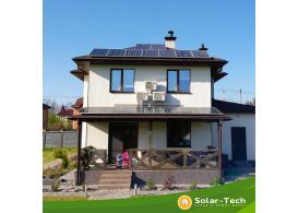 Мережева сонячна електростанція потужністю 6,6 кВт, с. Віта-Поштова, весна 2019 (1ша черга)