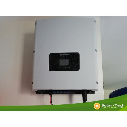 """Сетевая солнечная электростанция мощностью 6,6 кВт под """"зелёный"""" тариф"""