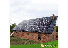 Сетевая солнечная электростанция мощностью 30 кВт с. Здолбица, весна 2019