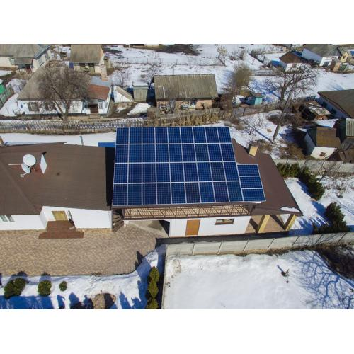 """Сетевая солнечная электростанция мощностью 15 кВт под """"зелёный"""" тариф"""