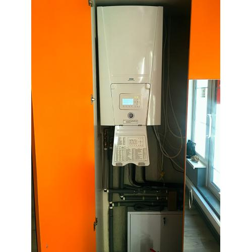 Система отопления фитнес центра на основе теплового насоса.