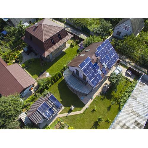 Гібридна сонячна електростанція 10,7 кВт, с Княжичі, 2018 рік