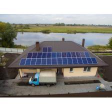Автономная солнечная электростанция, с. Зазимье (лето 2018)