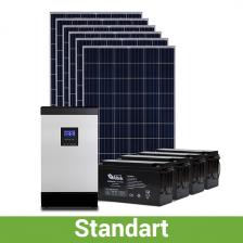 Солнечная станция для дома, 7-8 кВт*ч в день, 160-230 кВт*ч/месяц