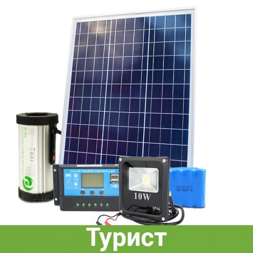 Комплект мини автономной солнечной электростанции для рыбалки