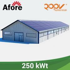 Скільки коштує Мережева станція 250 кВт під власне споживання на дах.