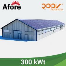 Скільки коштує Мережева станція 300 кВт під власне споживання на дах.