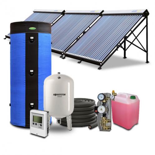Гелиосистема для горячего водоснабжения на 1500 литров