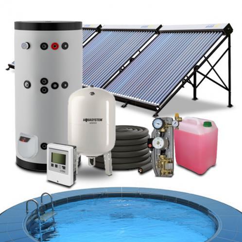 Гелиосистема подогрева бассейна 32-40 куб.м. и горячего водоснабжения на 200 литров