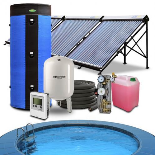 Геліосистема підігріву басейну 80-90 куб.м. і гарячого водопостачання на 300 літрів