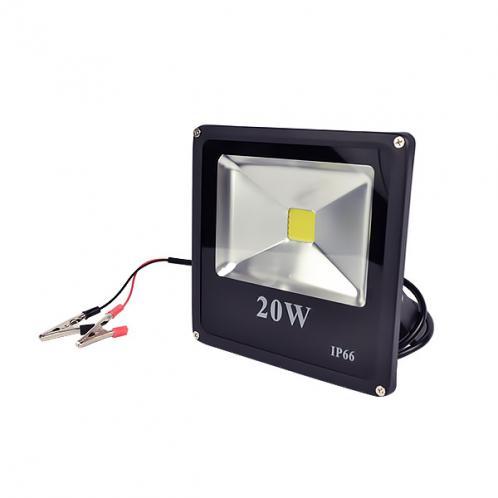 LED прожектор MAX-000-3 20W-6400K, для постійного струму 12 вольт
