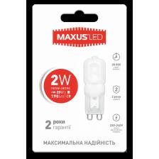LED лампа MAXUS G9 2W теплый свет 220V (1-LED-201)