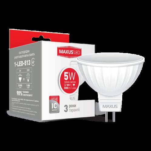 LED лампа MAXUS MR16 5W теплый свет GU5.3 AP (1-LED-513)