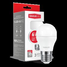 LED-лампа MAXUS G45 6W теплый свет E27 (1-LED-541)