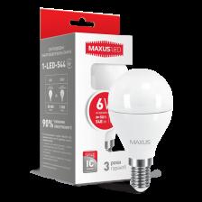 LED лампа MAXUS G45 6W яркий свет E14 (1-LED-544)