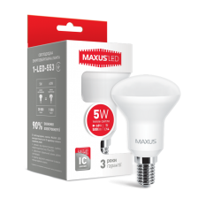 Сколько стоит LED лампа MAXUS R50 5W теплый свет E14 (1-LED-553)