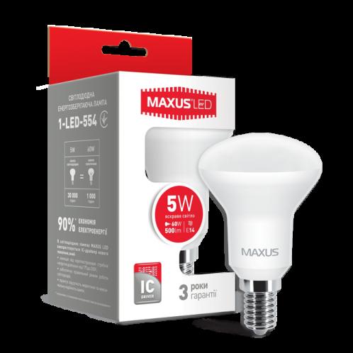 LED лампа Maxus R50 5W яскраве світло E14 (1-LED-554)