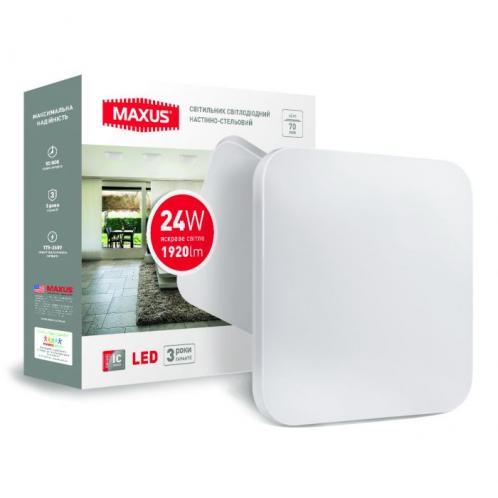 Светодиодный светильник накладной MAXUS 18W 4100K квадратный