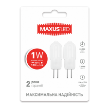 LED лампы MAXUS G4 2W теплый свет 12V AC/DC (2-LED-206)