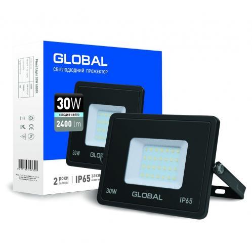 Прожектор світлодіодний GLOBAL 30W холодне світло (1-GBL-02-LFL-3060)