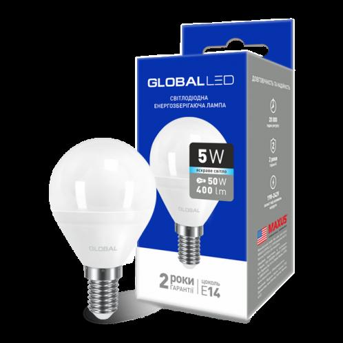 GLOBAL G45 F 5W яркий свет 220V E14 AP (1-GBL-144)