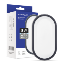 LED светильник GLOBAL HPL 8W 5000K E (1-HPL-002-E)