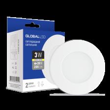 Скільки коштує LED світильник Global SPN 3W тепле світло (1-SPN-001-С)
