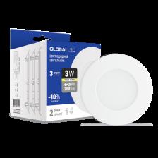 Скільки коштує Панель (міні) GLOBAL LED SPN 3W м'яке світло (3шт. в уп.) (3-SPN-001)