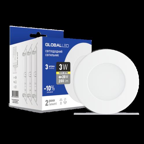 Панель (міні) GLOBAL LED SPN 3W м'яке світло (3шт. в уп.) (3-SPN-001)