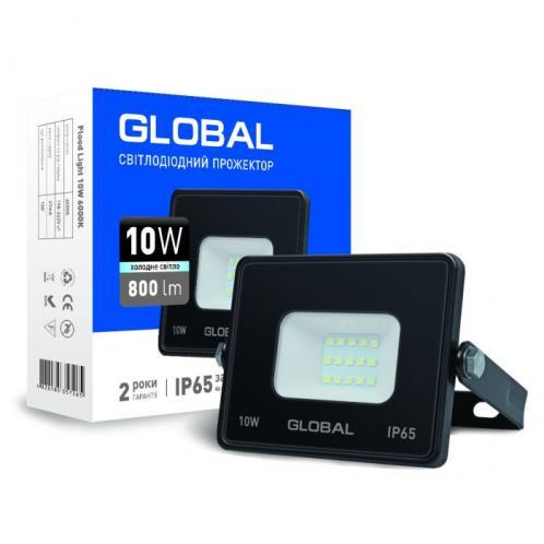 Прожектор світлодіодний GLOBAL 10W холодне світло (1-GBL-02-LFL-1060)