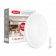 Умный светильник MAXUS Functional 50W (пульт, димминг, температура, таймер, ночник и др.)