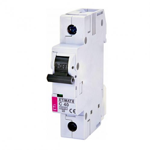 Автоматичний вимикач ETIMAT 6 1p C40