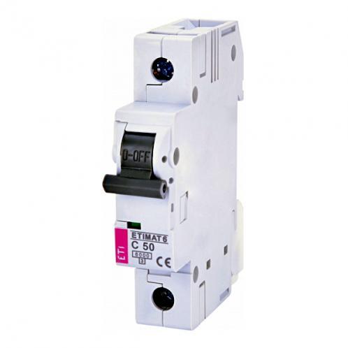 Автоматичний вимикач ETIMAT 6 1p C50