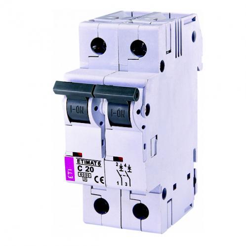 Автоматичний вимикач ETIMAT 6 2p C20