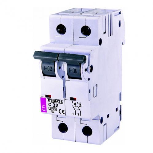 Автоматический выключатель ETIMAT 6 2p C32
