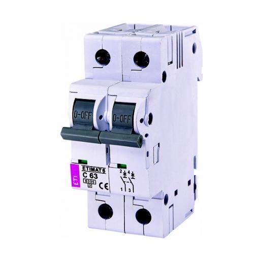 Автоматический выключатель ETIMAT 6 2p C63