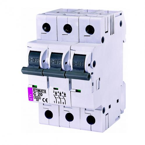Автоматичний вимикач ETIMAT 6 3p C20