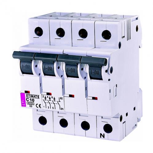 Автоматический выключатель ETIMAT 6 3p+N C10