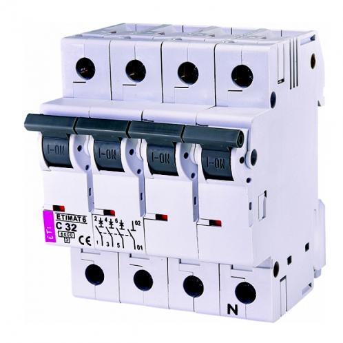 Автоматический выключатель ETIMAT 6 3p+N C32