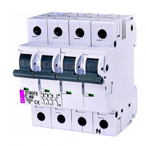 Автоматический выключатель ETIMAT 6 3p+N C40